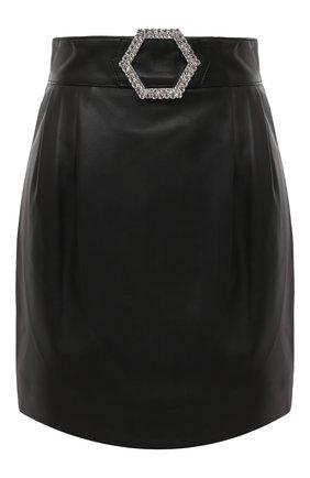 Женская кожаная юбка PHILIPP PLEIN черного цвета, арт. F20C WLV0068 PLE010N | Фото 1
