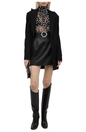 Женская кожаная юбка PHILIPP PLEIN черного цвета, арт. F20C WLV0068 PLE010N | Фото 2