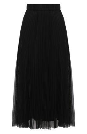 Женская юбка BRUNELLO CUCINELLI черного цвета, арт. MH132G2973 | Фото 1