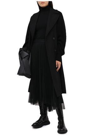 Женская юбка BRUNELLO CUCINELLI черного цвета, арт. MH132G2973 | Фото 2