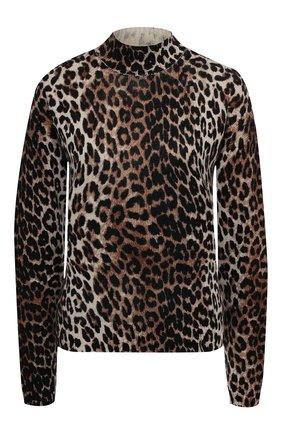Женский шерстяной пуловер GANNI коричневого цвета, арт. K1400 | Фото 1