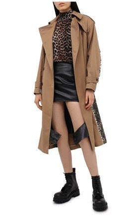 Женский шерстяной пуловер GANNI коричневого цвета, арт. K1400 | Фото 2