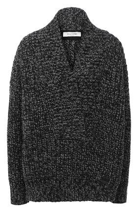 Женский свитер из шерсти и кашемира VALENTINO серого цвета, арт. UB0KC18M5YW   Фото 1