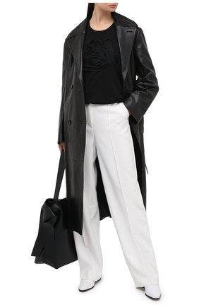 Женская хлопковая футболка Y`S черного цвета, арт. YB-T09-673 | Фото 2