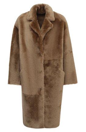 Женская шуба из овчины ENES светло-коричневого цвета, арт. BRUCE/MERINILL0 IR0NED | Фото 1