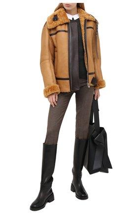 Женская дубленка TWINS FLORENCE коричневого цвета, арт. TWFAI20GIU0004 | Фото 2