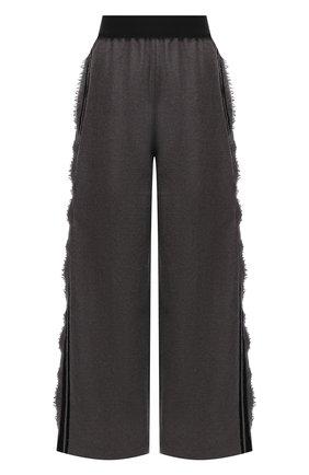 Женские шерстяные брюки UMA WANG светло-серого цвета, арт. A0 W UW3016 | Фото 1 (Длина (брюки, джинсы): Стандартные; Материал внешний: Шерсть; Женское Кросс-КТ: Брюки-одежда; Силуэт Ж (брюки и джинсы): Широкие; Стили: Спорт-шик)