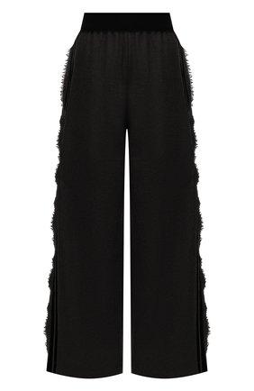 Женские шерстяные брюки UMA WANG черного цвета, арт. A0 W UW3016 | Фото 1 (Материал внешний: Шерсть; Длина (брюки, джинсы): Стандартные; Женское Кросс-КТ: Брюки-одежда; Силуэт Ж (брюки и джинсы): Широкие; Стили: Спорт-шик)