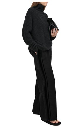 Женские шерстяные брюки UMA WANG черного цвета, арт. A0 W UW3016 | Фото 2 (Материал внешний: Шерсть; Длина (брюки, джинсы): Стандартные; Женское Кросс-КТ: Брюки-одежда; Силуэт Ж (брюки и джинсы): Широкие; Стили: Спорт-шик)