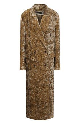 Женское пальто UMA WANG золотого цвета, арт. A0 W UW8011 | Фото 1 (Материал подклада: Купро, Вискоза; Материал внешний: Хлопок; Рукава: Длинные; Стили: Кэжуэл)