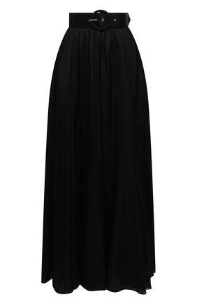 Женская шелковая юбка ZIMMERMANN черного цвета, арт. 7648SRLAD | Фото 1