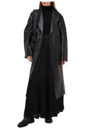 Женская шелковая юбка ZIMMERMANN черного цвета, арт. 7648SRLAD | Фото 2