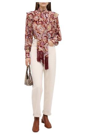 Женская шелковая блузка ZIMMERMANN бордового цвета, арт. 8951TCHA | Фото 2