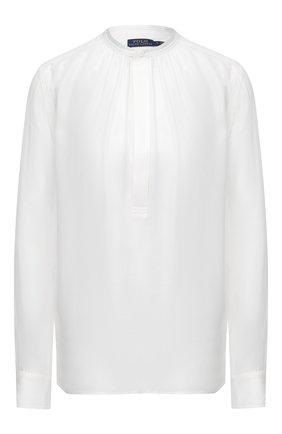 Женская блузка из шелка и вискозы POLO RALPH LAUREN кремвого цвета, арт. 211780701 | Фото 1