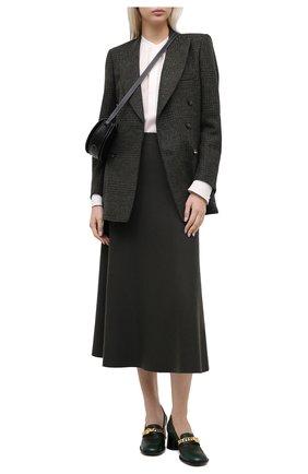Женская блузка из шелка и вискозы POLO RALPH LAUREN кремвого цвета, арт. 211780701 | Фото 2