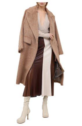 Женская юбка NANUSHKA коричневого цвета, арт. ARTEM_BR0WN PATCH_VEGAN LEATHER | Фото 2