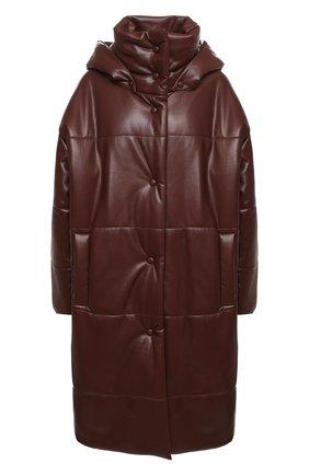 Женское пальто NANUSHKA коричневого цвета, арт. ESKA_PLUM CHUTNEY_VEGAN LEATHER | Фото 1