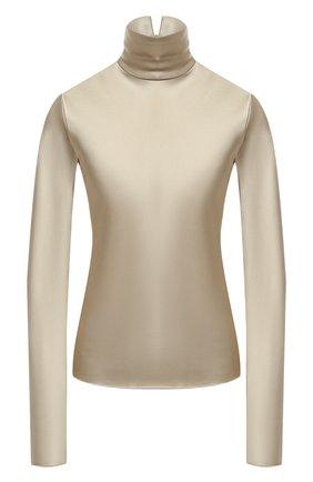 Женская блузка NANUSHKA бежевого цвета, арт. EVA_SAGE_SLIP SATIN | Фото 1