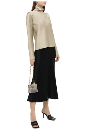 Женская блузка NANUSHKA бежевого цвета, арт. EVA_SAGE_SLIP SATIN | Фото 2