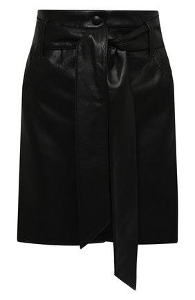 Женская юбка NANUSHKA черного цвета, арт. MEDA_BLACK_VEGAN LEATHER | Фото 1