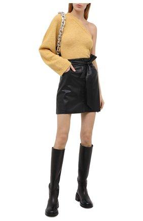 Женская юбка NANUSHKA черного цвета, арт. MEDA_BLACK_VEGAN LEATHER | Фото 2