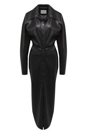 Женское платье NANUSHKA черного цвета, арт. SAMI_BLACK_VEGAN LEATHER | Фото 1