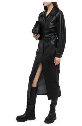 Женское платье NANUSHKA черного цвета, арт. SAMI_BLACK_VEGAN LEATHER | Фото 2