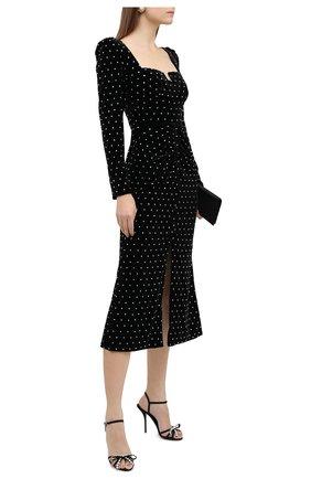 Женские текстильные босоножки DOLCE & GABBANA черного цвета, арт. CR1125/A0035   Фото 2