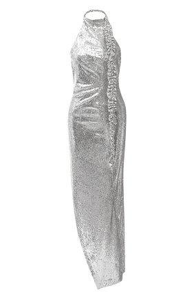 Женское платье с пайетками OFF-WHITE серебряного цвета, арт. 0WDB268F20FAB0010900 | Фото 1
