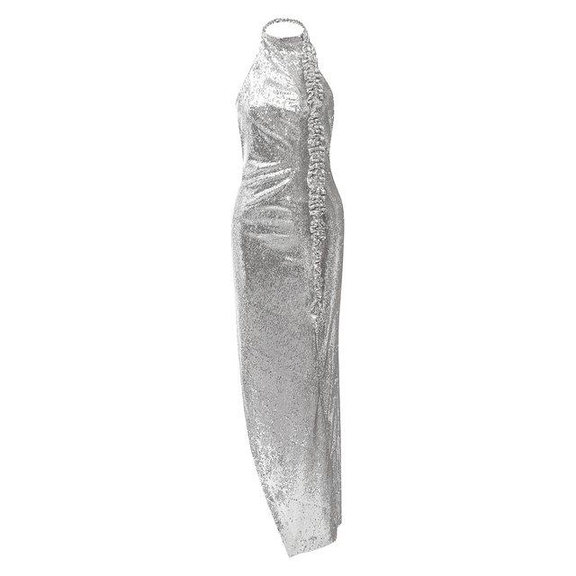 Платье с пайетками Off-White