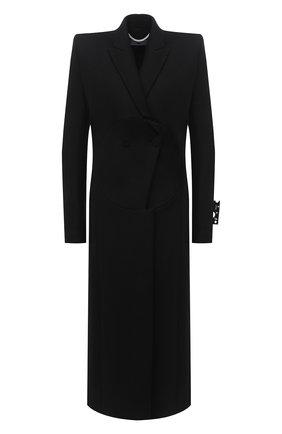 Женское шерстяное пальто OFF-WHITE черного цвета, арт. 0WEA237F20FAB0011000 | Фото 1