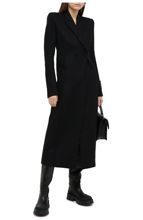 Женское шерстяное пальто OFF-WHITE черного цвета, арт. 0WEA237F20FAB0011000 | Фото 2