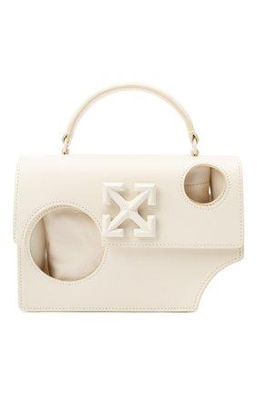 Женская сумка 1.4 jitney OFF-WHITE бежевого цвета, арт. 0WNA155F20LEA0016100 | Фото 1