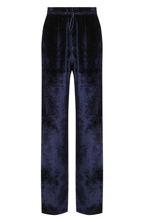Женские брюки из вискозы OFF-WHITE синего цвета, арт. 0WVI009F20FAB0014501   Фото 1