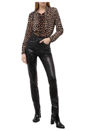 Женские джинсы SAINT LAURENT черного цвета, арт. 636871/Y09AB | Фото 2