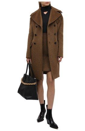 Женские кожаные ботильоны bv lean  BOTTEGA VENETA черного цвета, арт. 639826/V01M0 | Фото 2