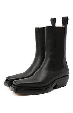Женские кожаные ботинки bv lean  BOTTEGA VENETA черного цвета, арт. 639831/V00M0 | Фото 1