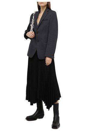 Женские кожаные ботинки bv lean  BOTTEGA VENETA черного цвета, арт. 639831/V00M0 | Фото 2