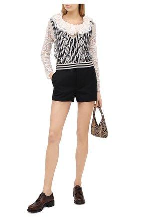Женская кожаные дерби MIU MIU коричневого цвета, арт. 5E205D/P70   Фото 2