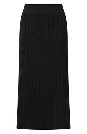 Женская шерстяная юбка BOTTEGA VENETA темно-коричневого цвета, арт. 638136/V08G0 | Фото 1