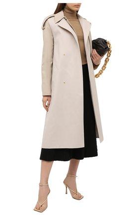 Женская шерстяная юбка BOTTEGA VENETA темно-коричневого цвета, арт. 638136/V08G0 | Фото 2