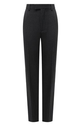 Женские шерстяные брюки BOTTEGA VENETA темно-серого цвета, арт. 629560/VKIV0 | Фото 1