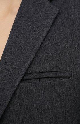 Женский шерстяной жакет BOTTEGA VENETA темно-серого цвета, арт. 628721/VKIV0 | Фото 5