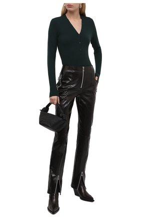 Женские кожаные ботильоны bv lean  BOTTEGA VENETA темно-коричневого цвета, арт. 639826/V01M0 | Фото 2