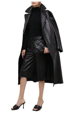 Женские кожаные мюли bv rubber lido BOTTEGA VENETA черного цвета, арт. 639943/VBP30 | Фото 2