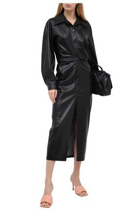 Женские кожаные мюли bv rubber BOTTEGA VENETA светло-розового цвета, арт. 639943/VBP30 | Фото 2
