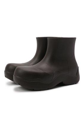 Женские сапоги bv puddle BOTTEGA VENETA темно-коричневого цвета, арт. 640045/V00P0 | Фото 1