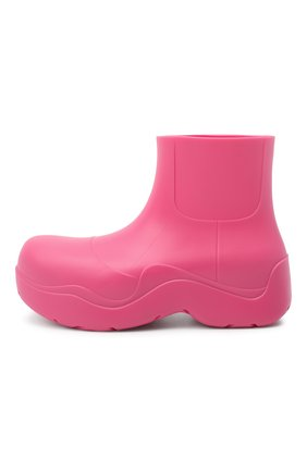 Женские сапоги bv puddle BOTTEGA VENETA розового цвета, арт. 640045/V00P0 | Фото 3 (Подошва: Платформа; Женское Кросс-КТ: Без шнуровки-ботинки; Материал внутренний: Натуральная кожа, Текстиль; Высота голенища: Низкие; Каблук высота: Средний; Каблук тип: Устойчивый; Материал внешний: Резина)