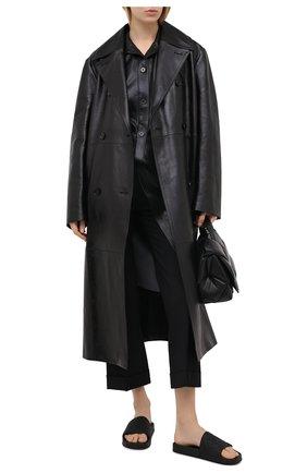 Женские шлепанцы bv slider BOTTEGA VENETA черного цвета, арт. 640051/V00P0 | Фото 2