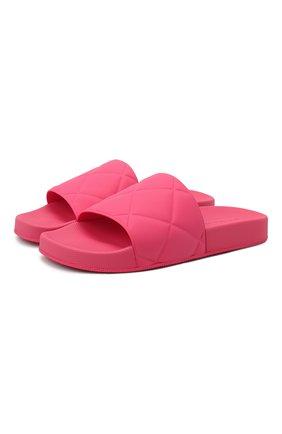 Женские шлепанцы bv slider BOTTEGA VENETA розового цвета, арт. 640051/V00P0 | Фото 1